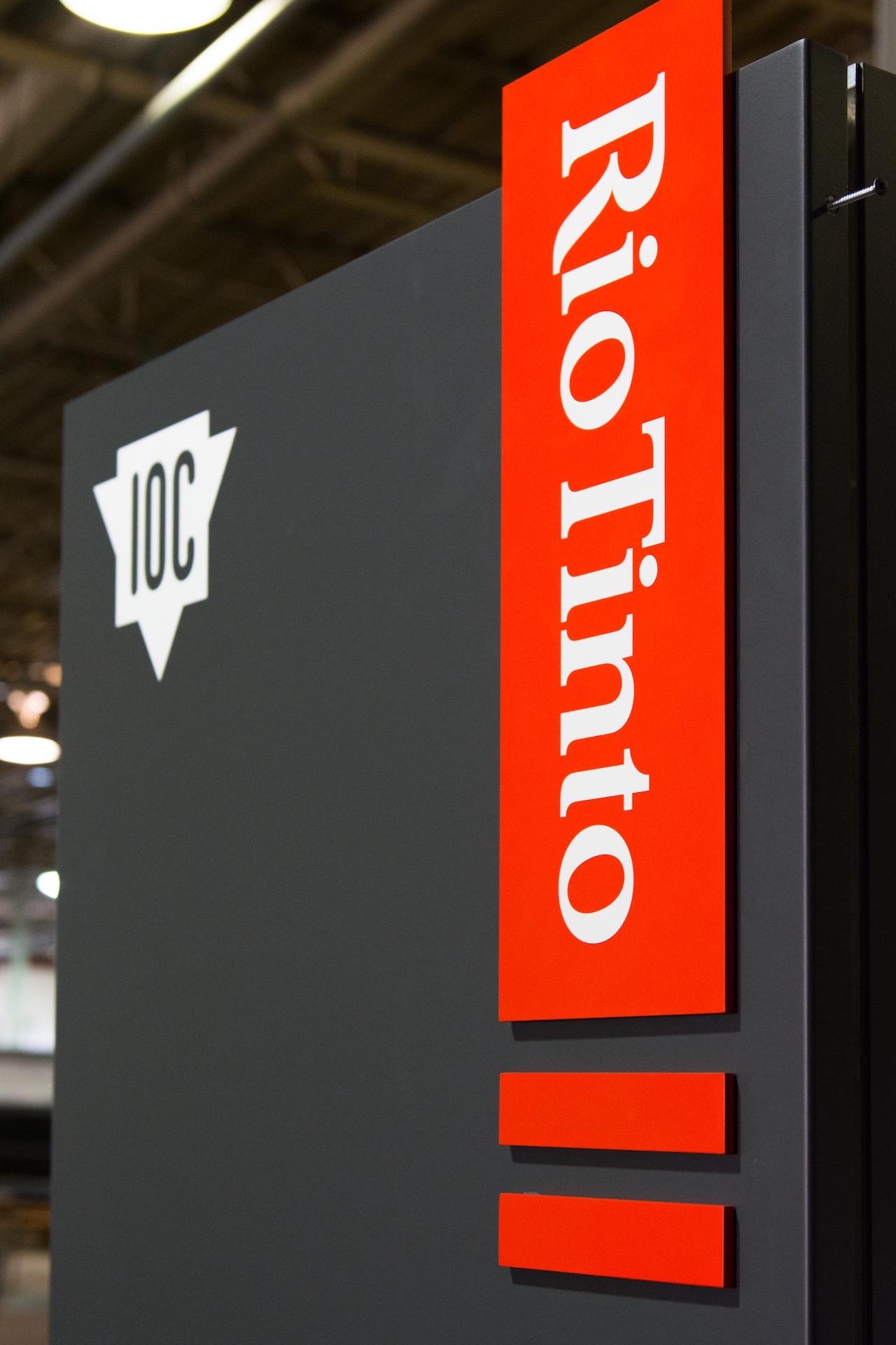 Rio Tinto Custom Sign Box