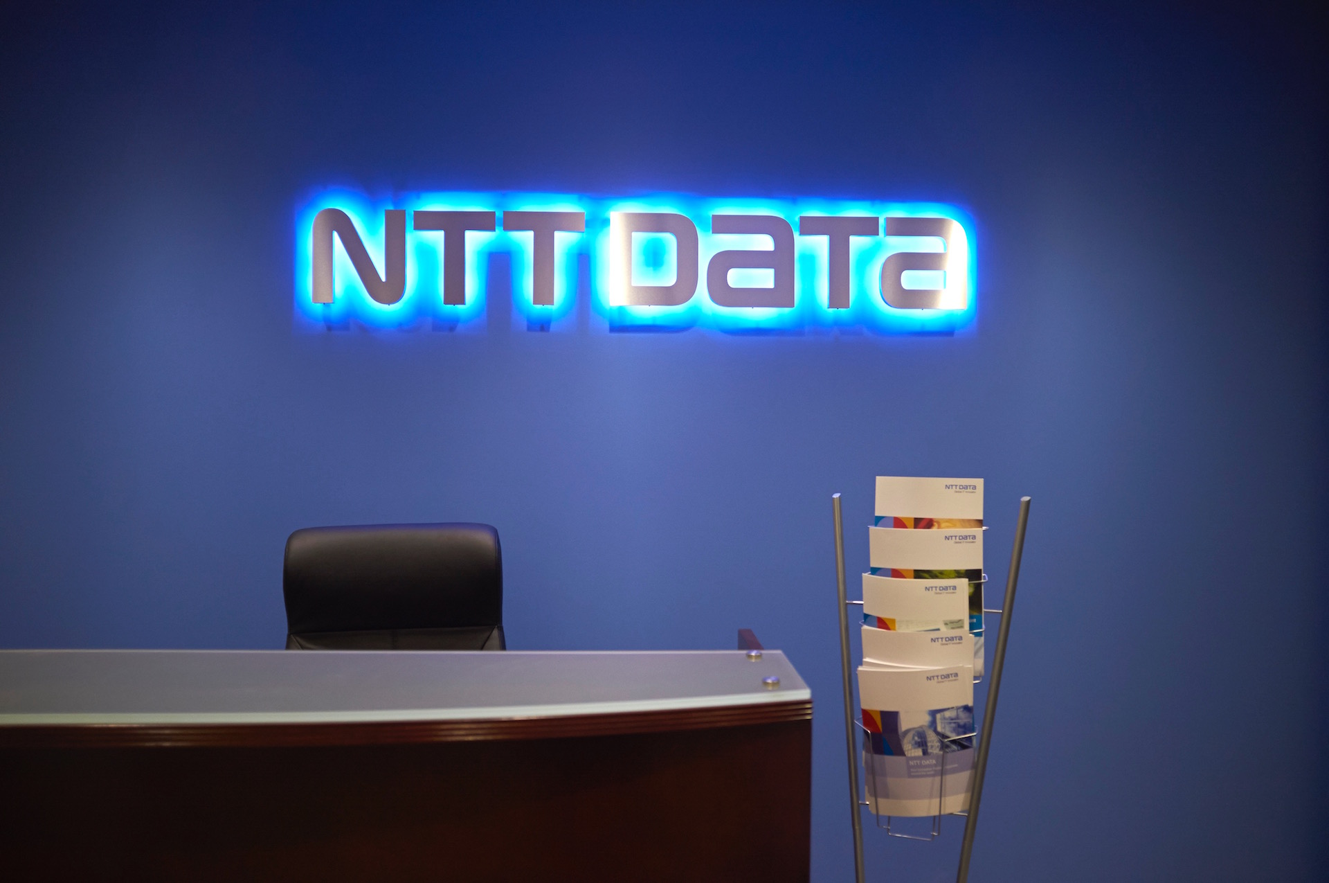 NTT Data Wall Sign