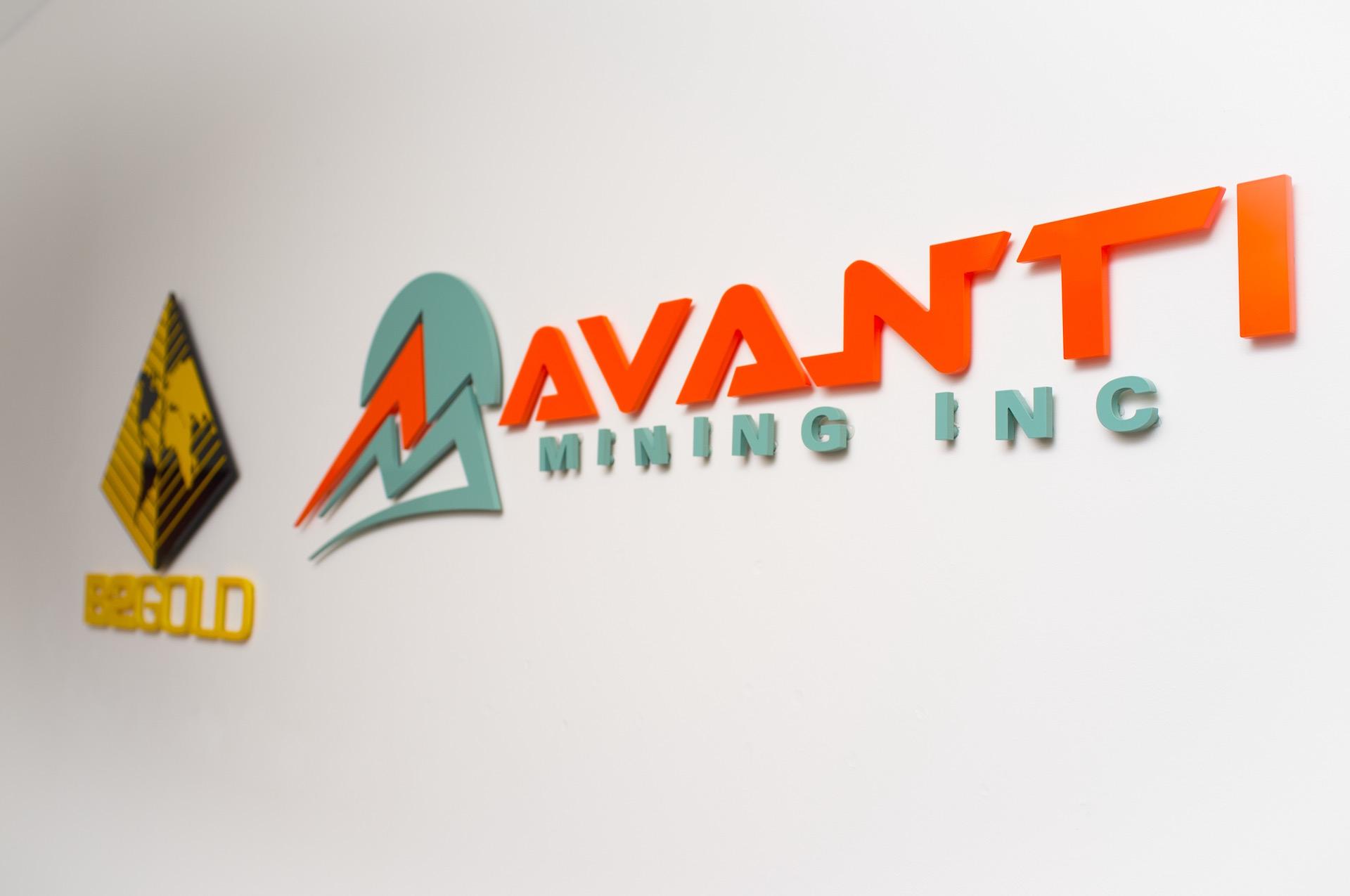 Avanti and B2Gold custom wall signs